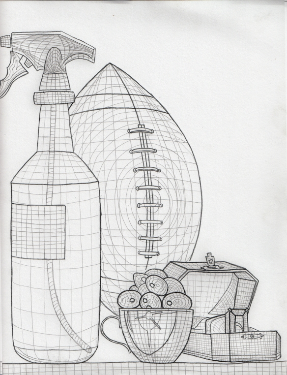 Homework for Week of Sept. 17 and 19th  Cross Contour Still Life