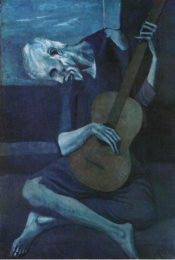 Picasso Blue Guitar Player