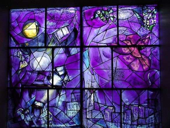 Chagall Stained Glass...Homework inspiration