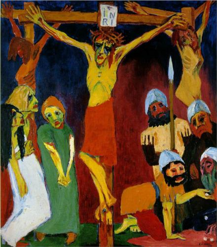 Another Crucifixion example Emil Nolde