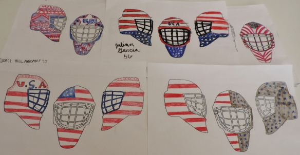 Some cool Goalie Mask designs from yesterday!