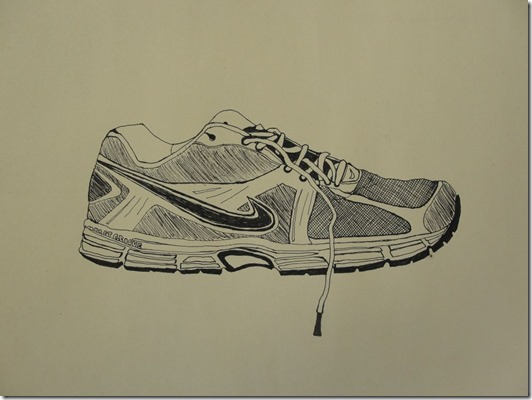 contour shoe drawing