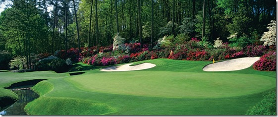 13th green Augusta