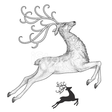 reindeer-drawing