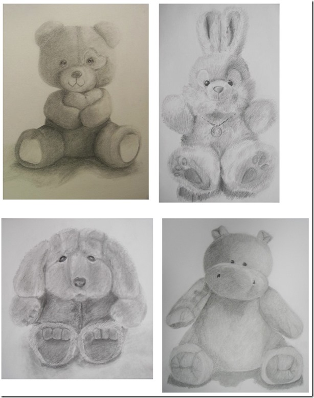 stuffed animal drawings
