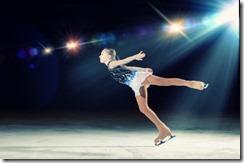 Little girl figure skating