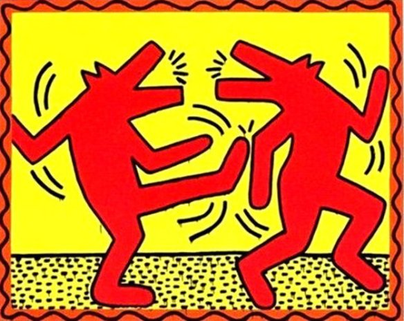 Keith_Haring_Untitled_Poster_Dancing_Dogs