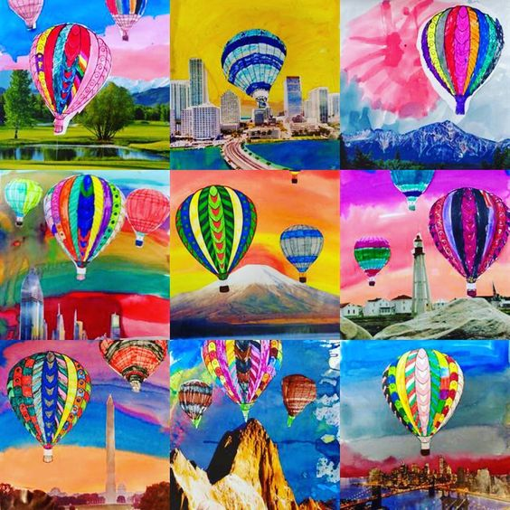 Hot Air balloon color